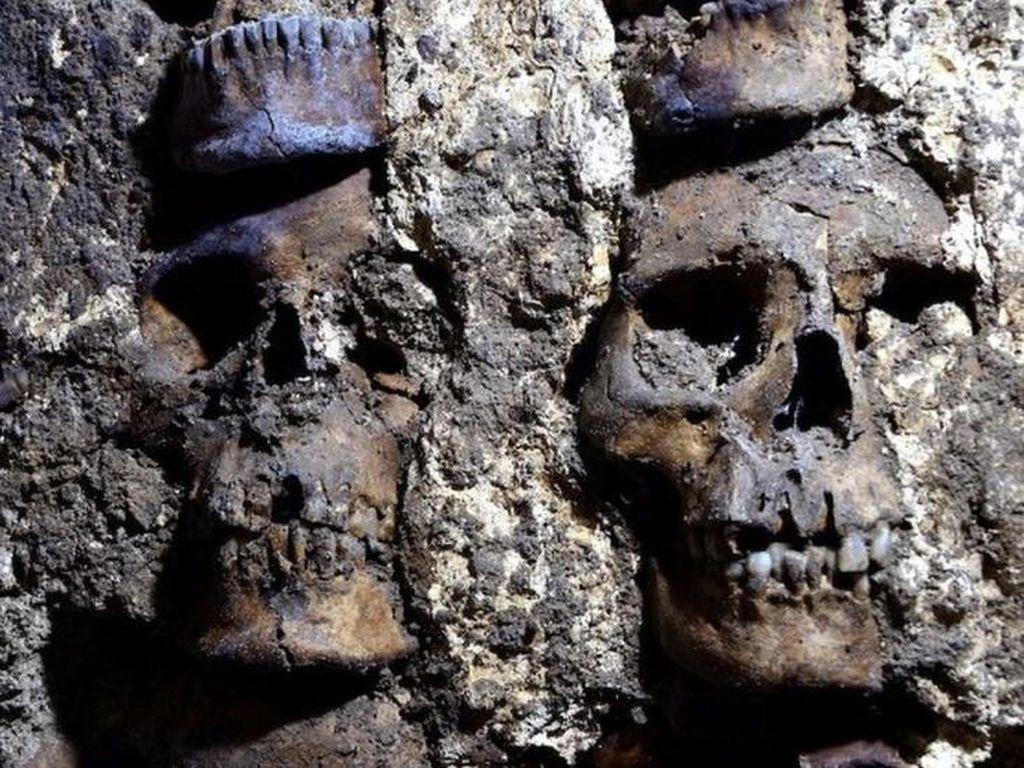 Menara Ratusan Tengkorak Manusia Berusia 500 Tahun Ditemukan di Meksiko