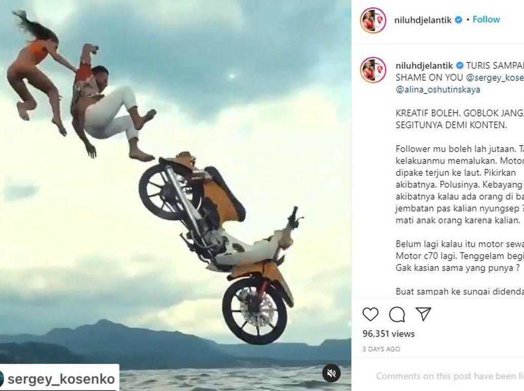 Turis Rusia yang Buang Motor di Perairan Bali Minta Maaf