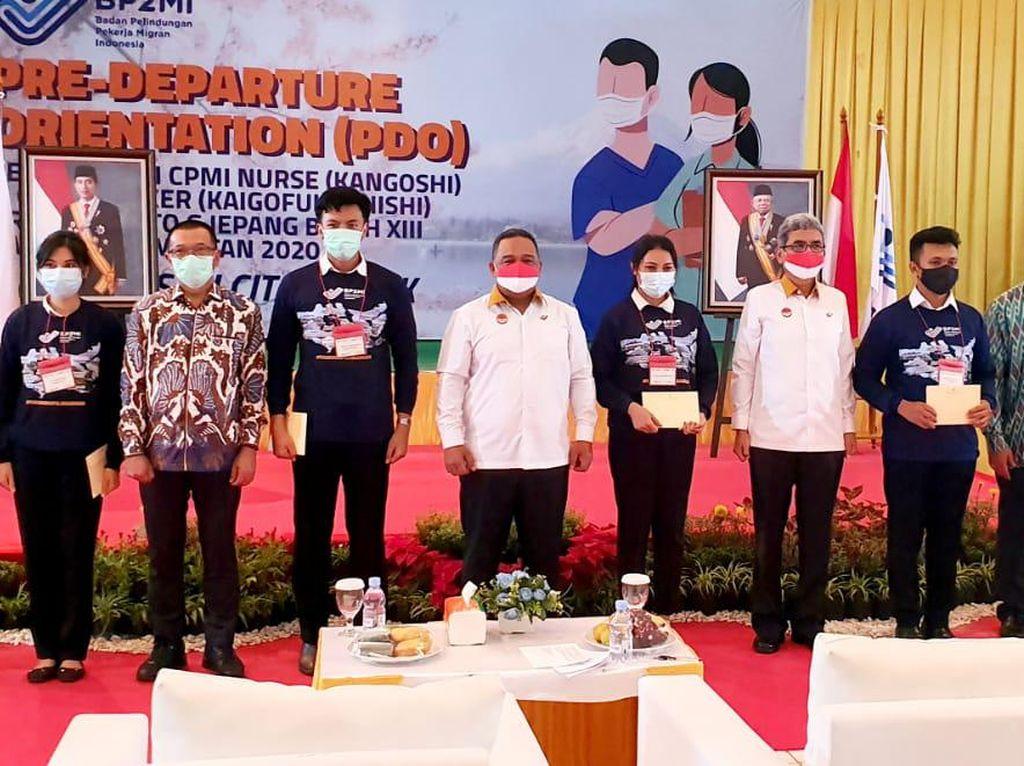 BP2MI Lepas 116 PMI ke Jepang, Bekerja Sebagai Perawat