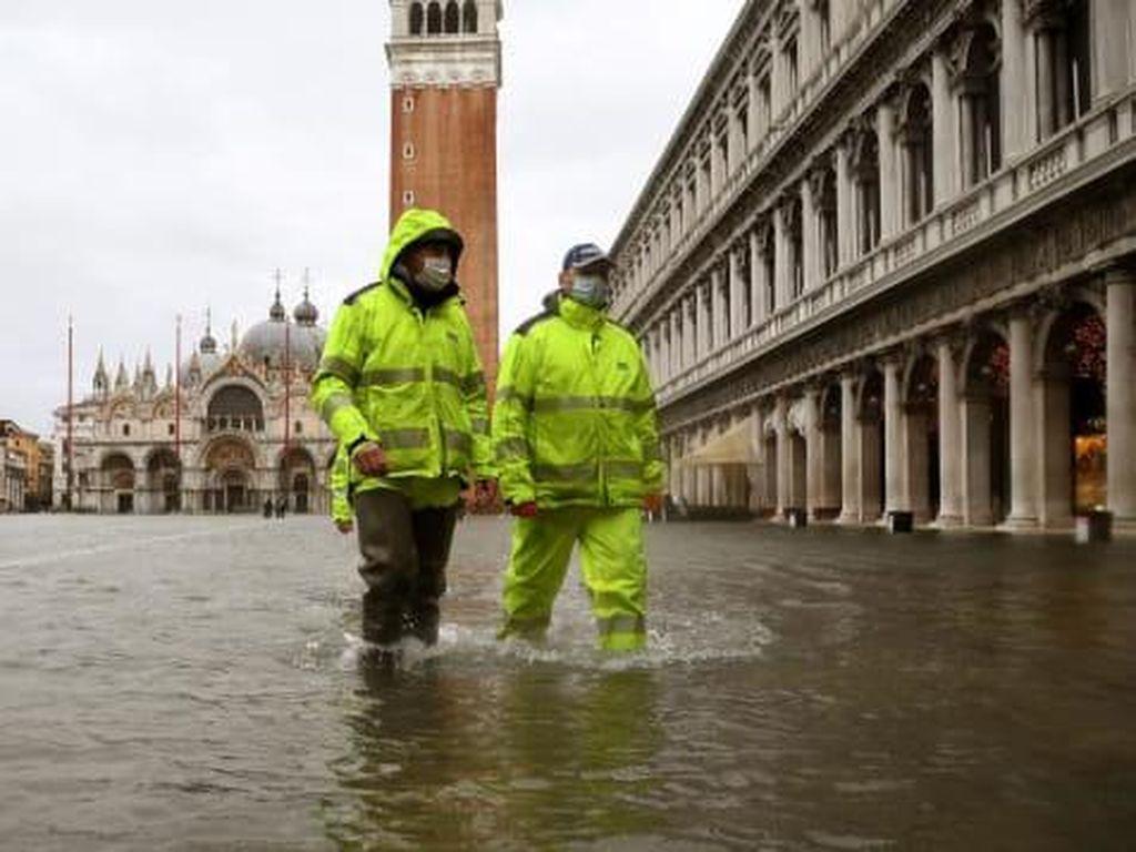 Potret Venesia Tenggelam Lagi Karena Tanggul Tak Dinaikkan
