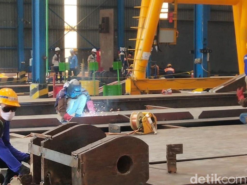 WIKA Ekspor 9.500 Ton Girder Baja ke Filipina