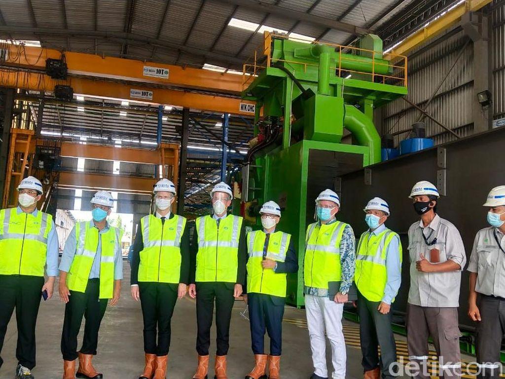 Mendag Prancis Kunjungi Pabrik Baja di Banten, Ada Apa?