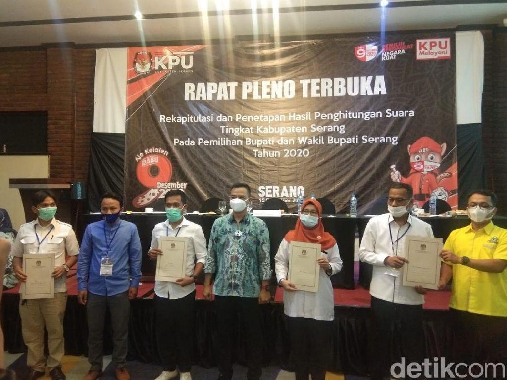 Hasil Pleno KPU, Tatu-Pandji Ungguli Nasrul-Eki di Pilkada Serang