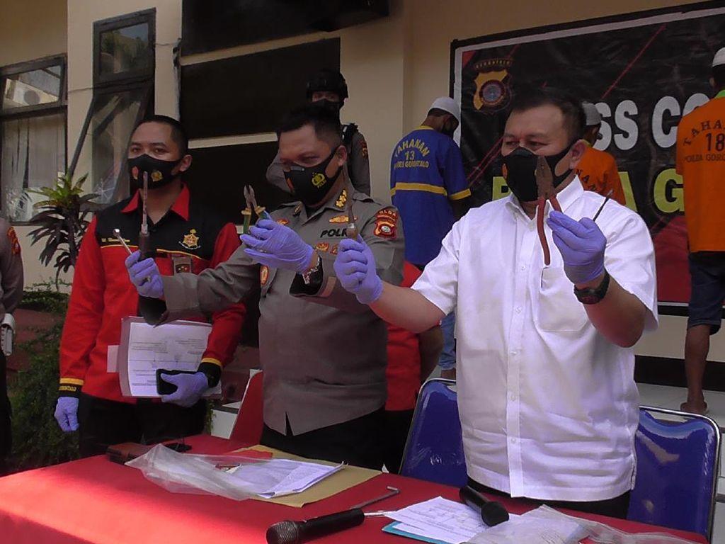 Polisi Bongkar Pencurian 40 Baterai Tower di Gorontalo, 3 Pelaku Ditangkap