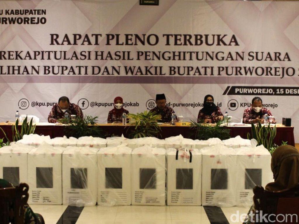 Pleno KPU Purworejo: Bupati Petahana Menang, Paslon Eks TNI-Polri Melawan