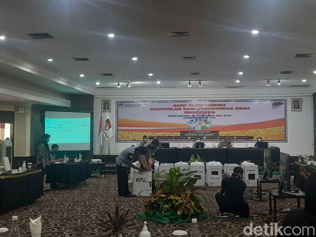 Hari Pertama Rekapitulasi Pilwali Surabaya Berjalan Alot
