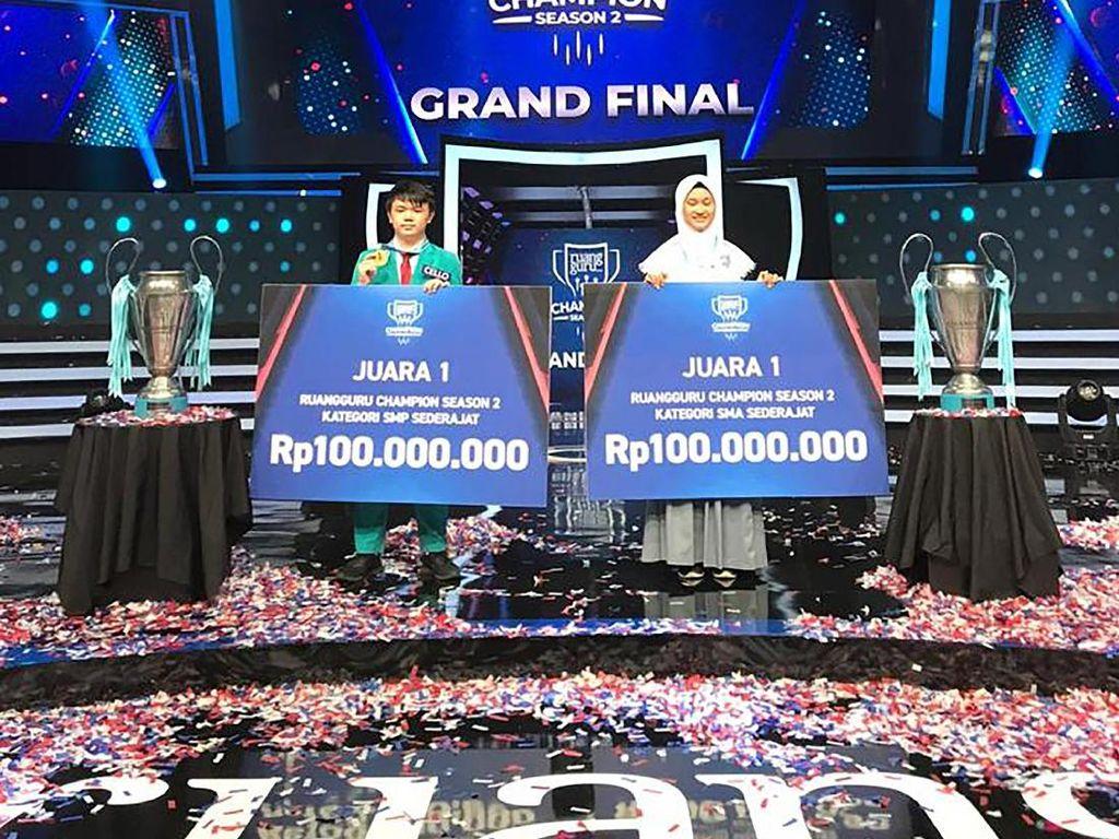 Menang Ruangguru Champion, 2 Siswa Ini Dapat Hadiah Rp 100 Juta
