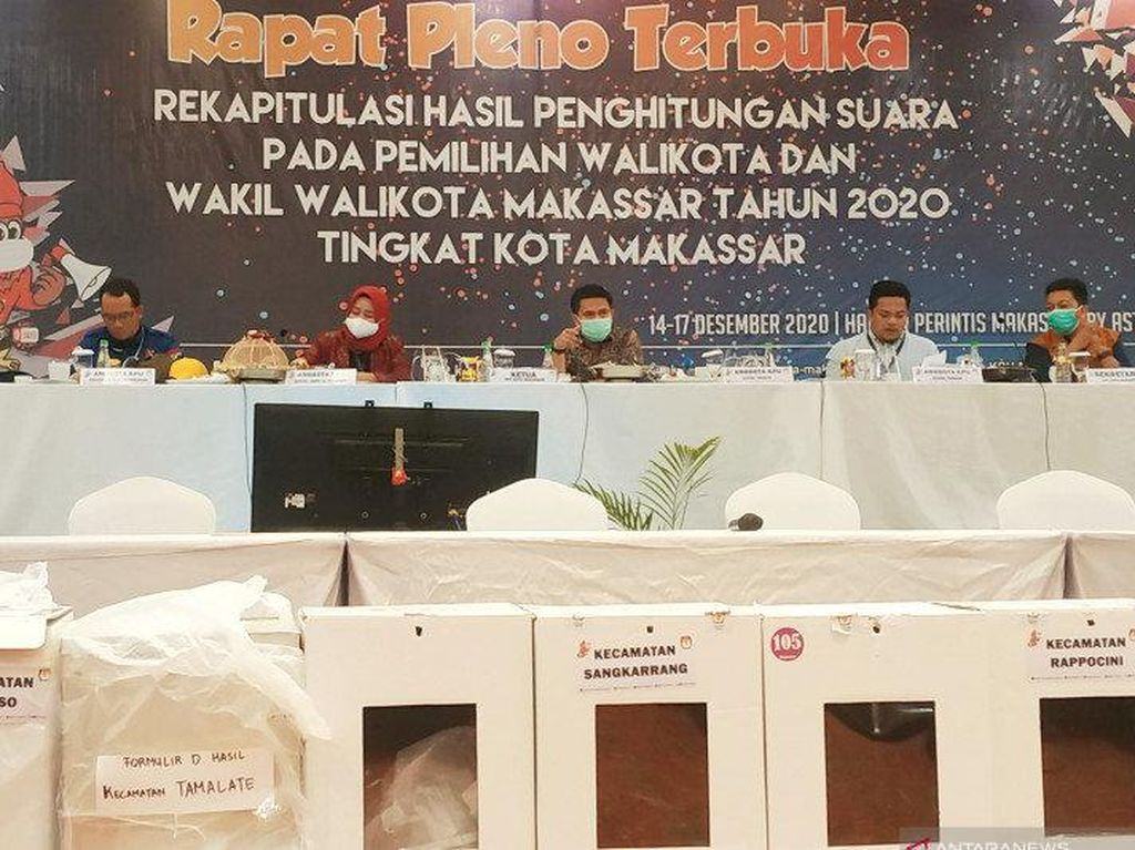 KPU Umumkan Danny-Fatma Menang Pilwalkot Makassar
