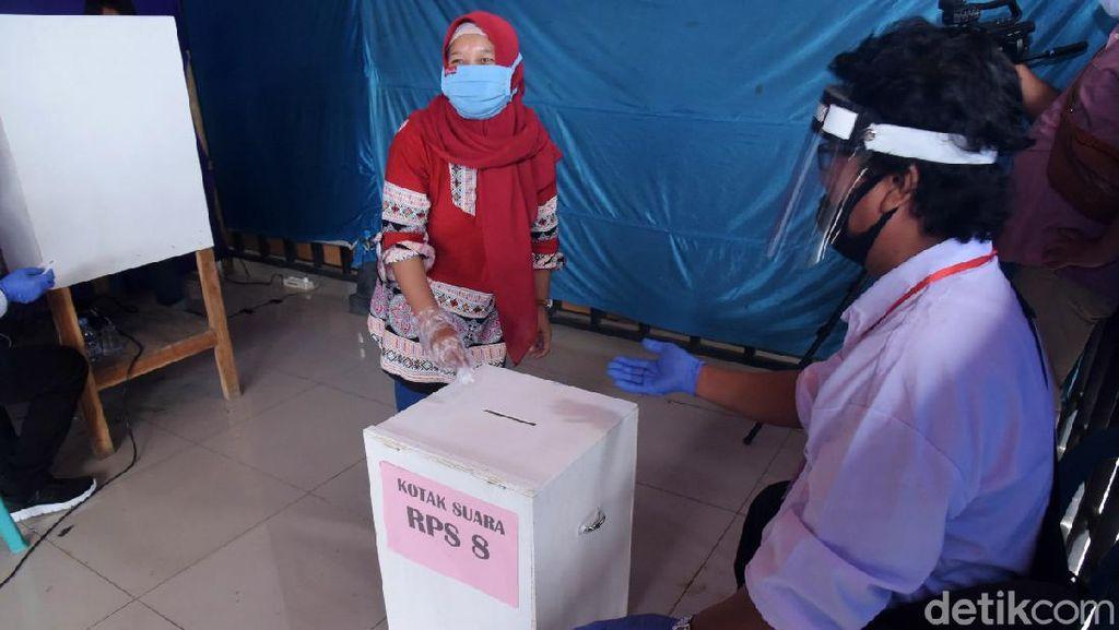 Suasana Pilkades e-Voting di Boyolali Saat Pandemi Corona