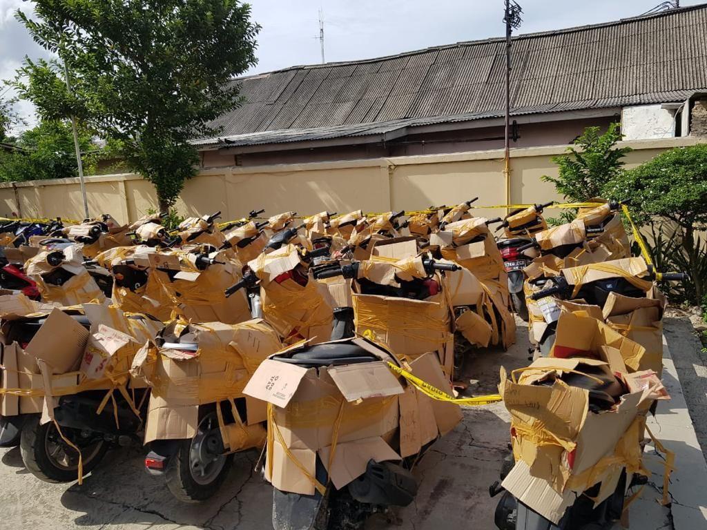 Polisi Amankan 43 Unit Motor Bodong di Pangkalan Truk Cipinang Jaktim
