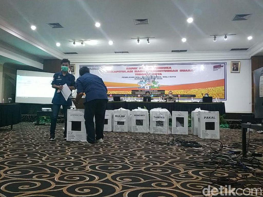 Rapat Pleno KPU Surabaya Baru Tetapkan Suara di 11 Kecamatan