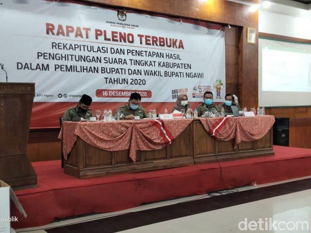 Rekapitulasi Pilkada Ngawi, Ony-Antok Unggul 94,42% Lawan Kotak Kosong
