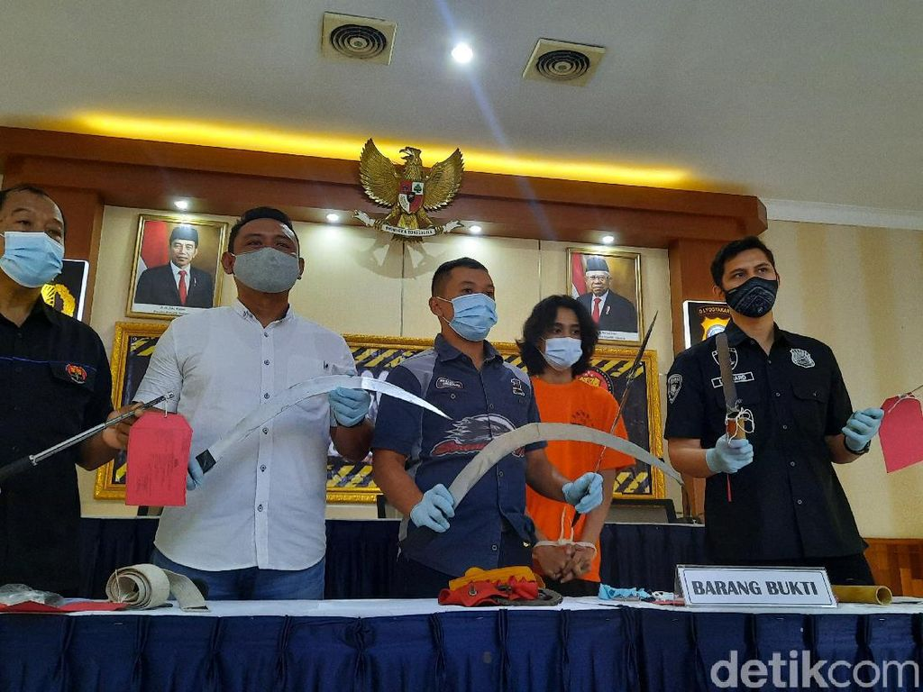 Konvoi Bawa Sajam Hendak Tawuran di Sleman, 4 Anggota Geng SMA Ditangkap