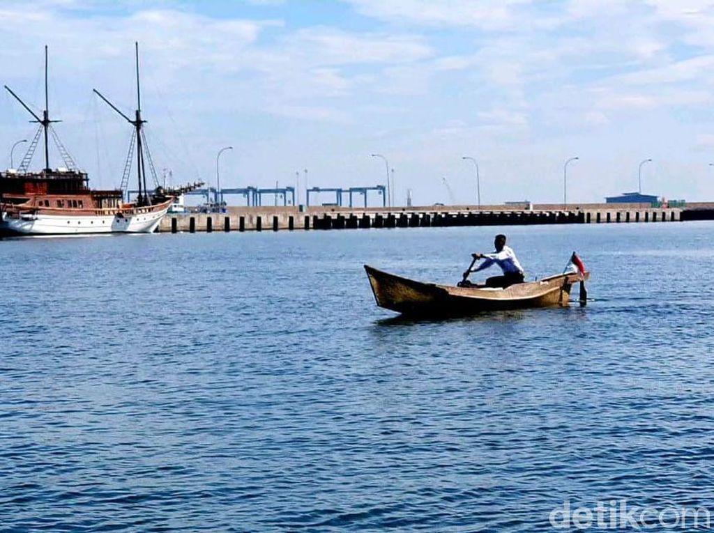 Anak Nelayan Dayung Katinting 17 Km yang Viral Lulus Jadi Cata TNI AL