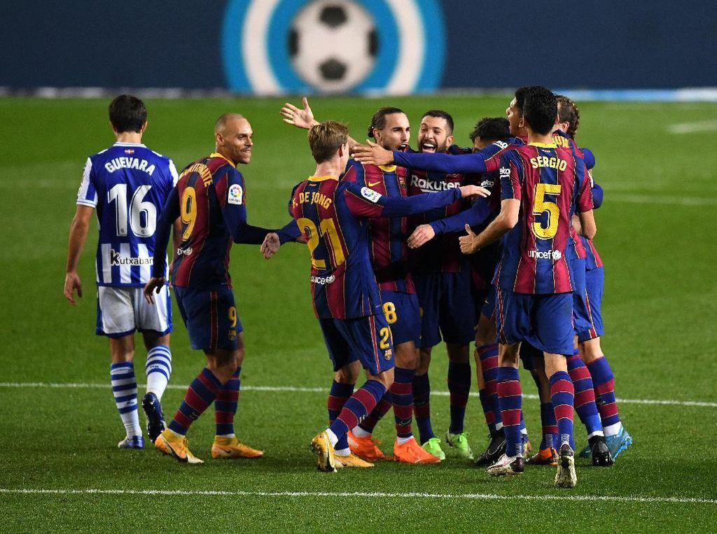 Barcelona Vs Sociedad: Blaugrana Menang 2-1