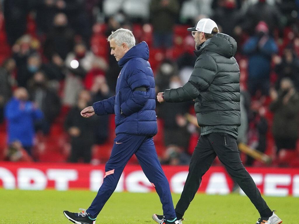 Viral! Video Adu Mulut Klopp-Mourinho Usai Liverpool Vs Tottenham