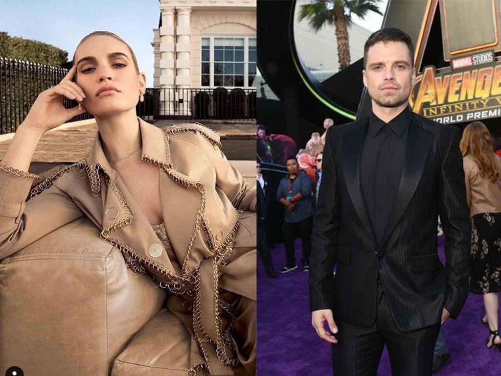 Lily James dan Sebastian Stan Jadi Pamela Anderson-Tommy Lee, Mirip Banget!