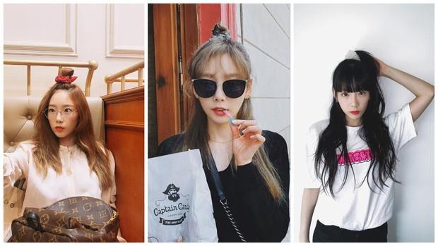 style rambut top knot Taeyeon SNSD
