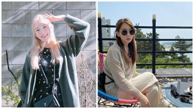 style rambut half updo Taeyeon SNSD