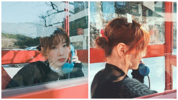 style rambut side bun Taeyeon SNSD