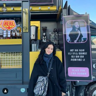 Jisoo BLACKPINK Super Happy Dapat Kiriman Coffee Truck dari Rosé