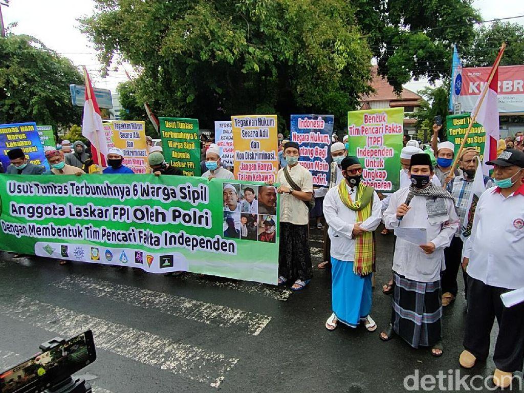 Datangi Polresta Kediri, Pergerakan Umat Islam Pertanyakan Kasus Habib Rizieq