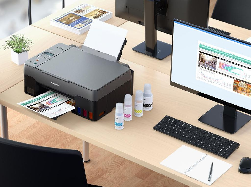 Printer Ink Tank Terbaru Canon Janjikan Kemudahan Perawatan