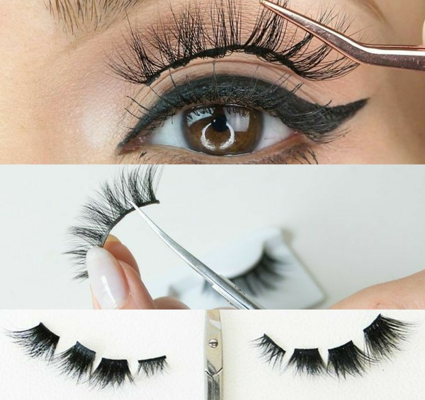 tutorial memasang false lashes