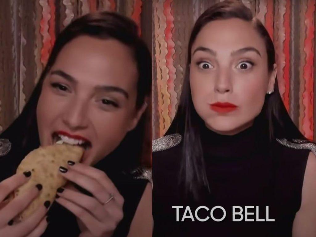 Gal Gadot Cicipi Taco Bell Pertama Kali, Begini Reaksinya