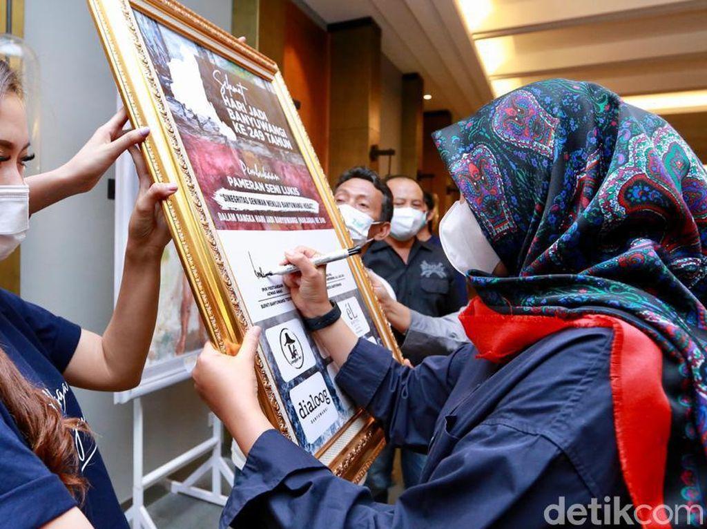 Seniman Lukis Gelar Pameran di Hari Jadi ke-249 Banyuwangi