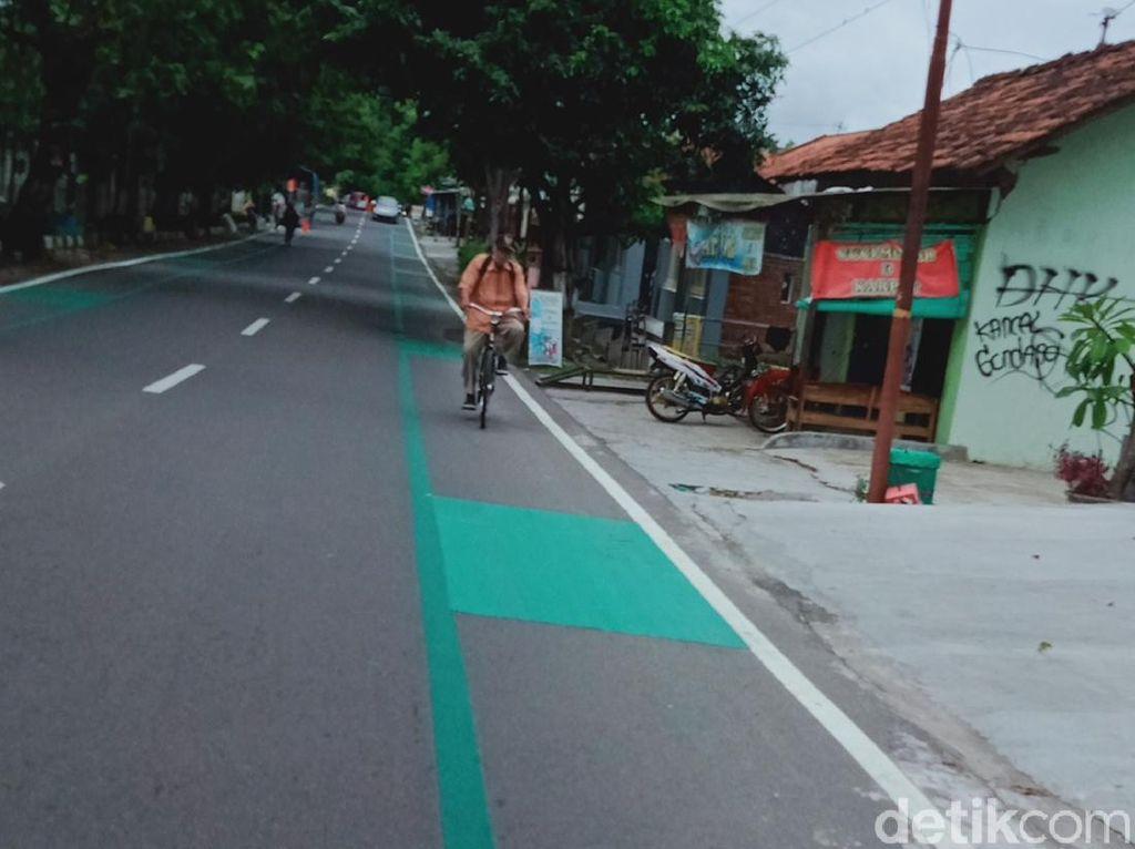 Marka Hijau di Jalanan Kota Klaten Bikin Bingung, Ternyata Ini Fungsinya