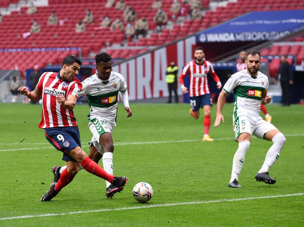 Atletico Vs Elche: Suarez Dua gol, Los Colchoneros Menang 3-1