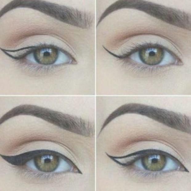 Pastikan cat eye harus mengangkat mata, bentuknya melebar dan memanjang.