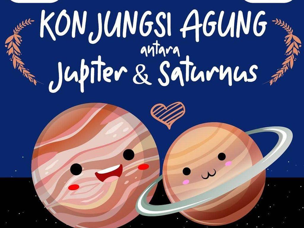 Ini Cara Lihat Konjungsi Jupiter-Saturnus