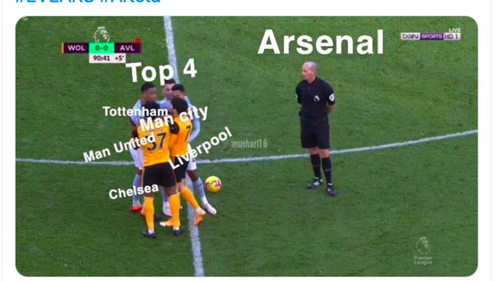 Arsenal Payah, Netizen Singgung Ancaman Degradasi