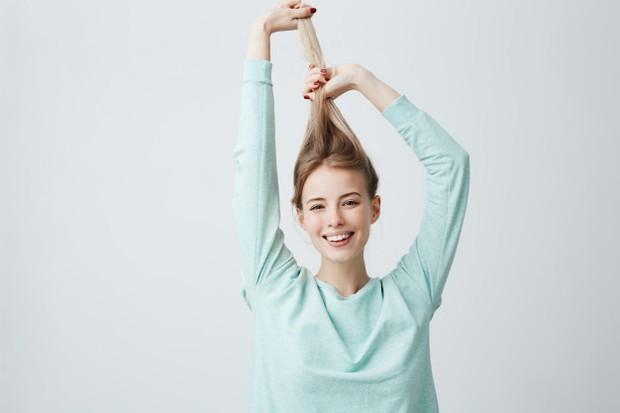 Ilustrasi gaya ikat rambut