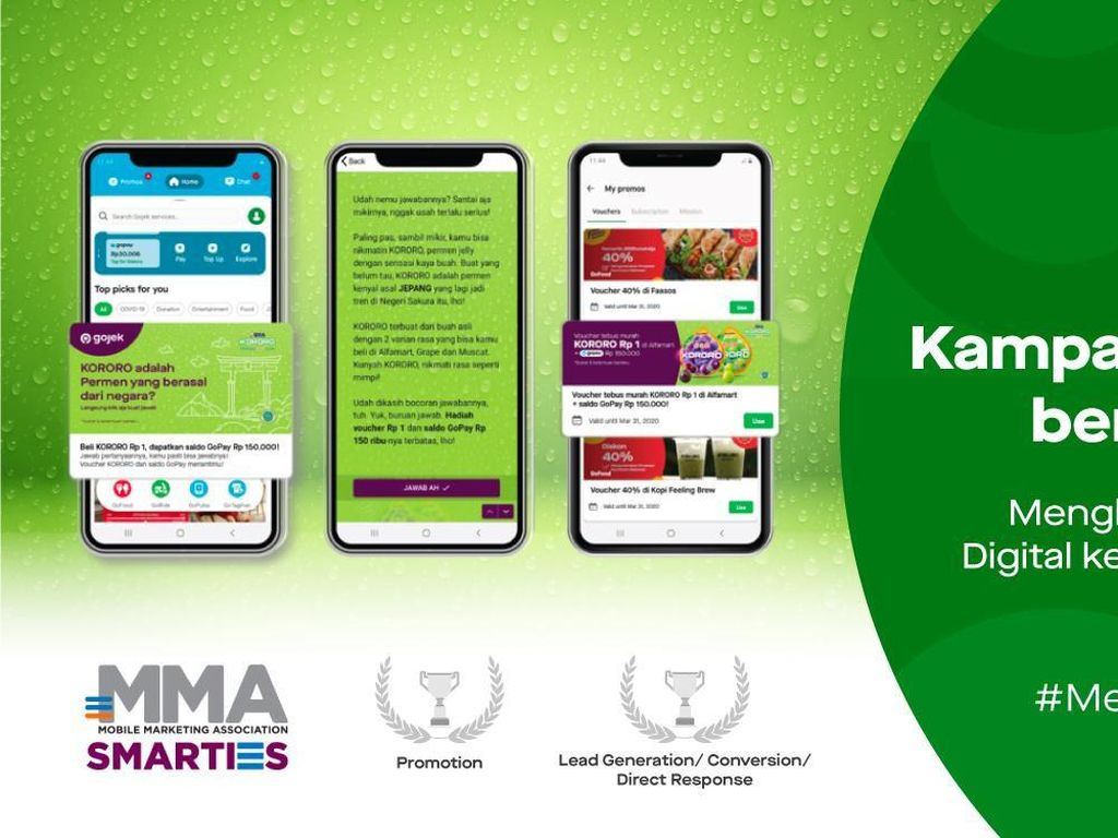 Kampanye O2O Gojek & Kororo Raih Penghargaan di MMA SMARTIES Award