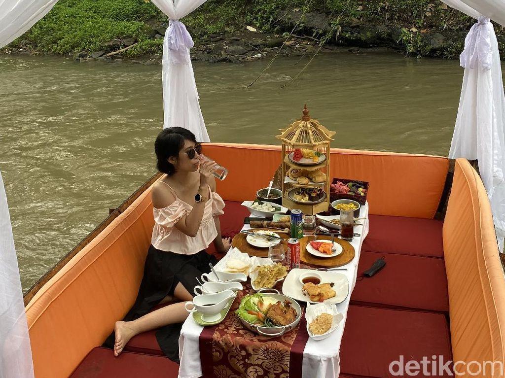 Satu-satunya di Bali, Rafting Brunch Makan di Tengah Aliran Sungai Wos