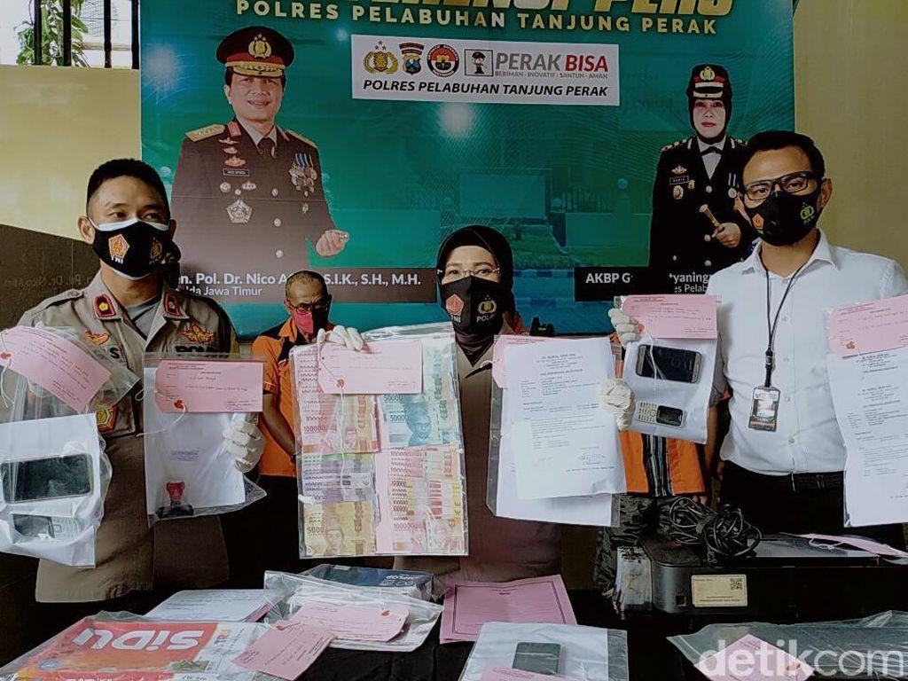 Polisi Bongkar Sindikat Pembuatan Hasil Rapid Test Palsu di Surabaya