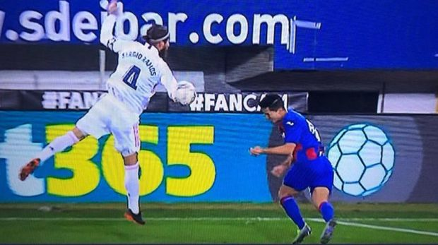 Ramos Akui Handball, tapi Madrid Tetap Tak Dihukum Penalti