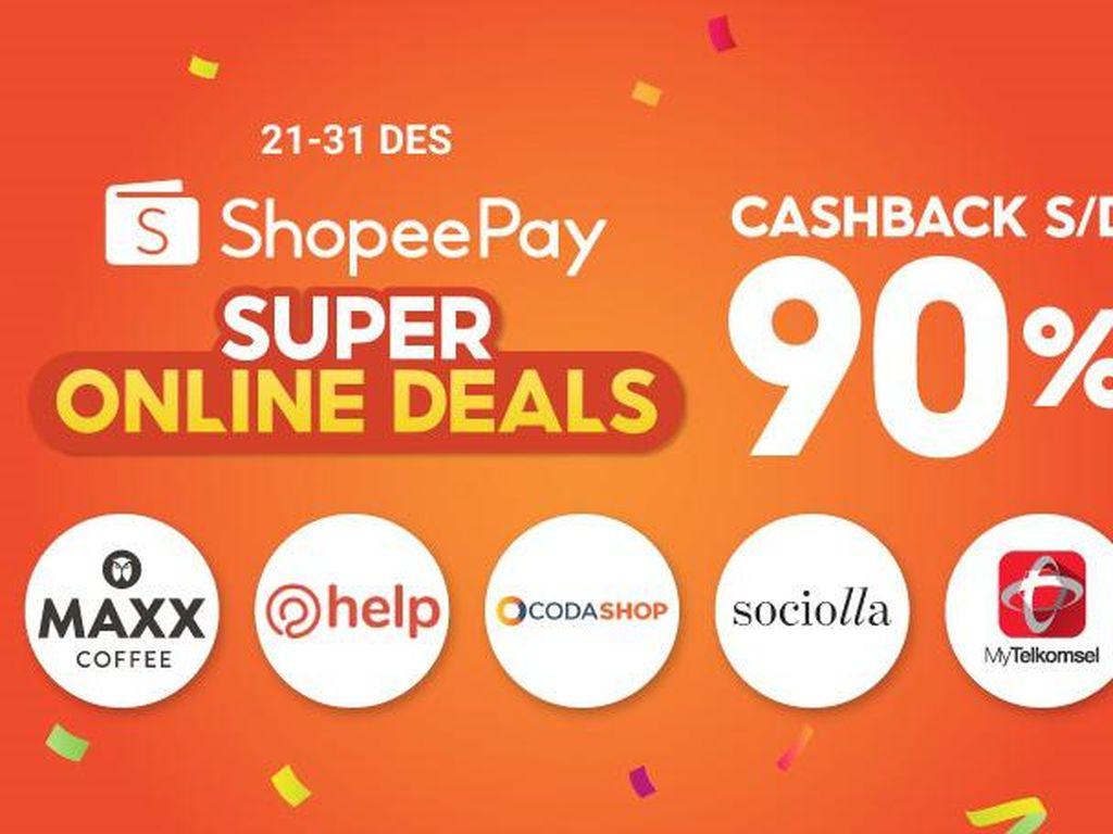 ShopeePay Gelar Promo Online Deals, Ada Cashback hingga 90%