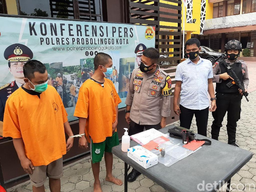 Polisi Tangkap 2 Pelaku Pelemparan Bondet ke Pengadilan Negeri Kota Probolinggo