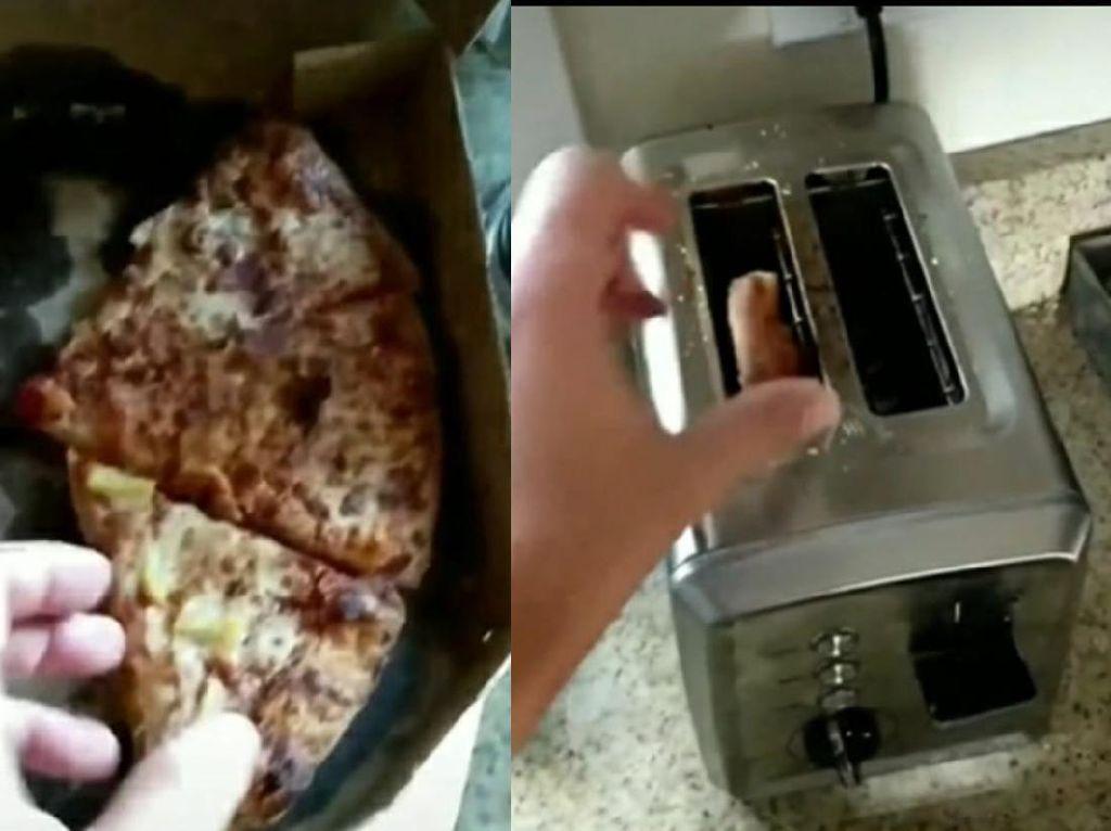 Pria Ini Hangatkan Pizza Pakai Toaster, Kok Malah Bikin Khawatir