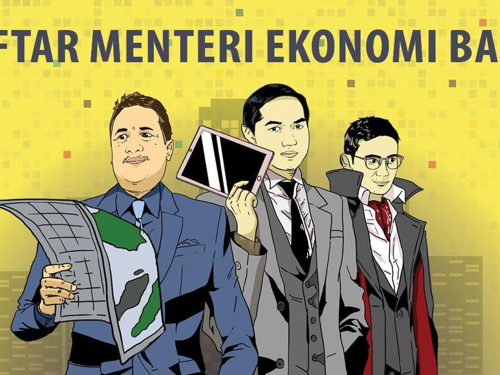 Daftar Menteri Ekonomi Baru Pilihan Jokowi