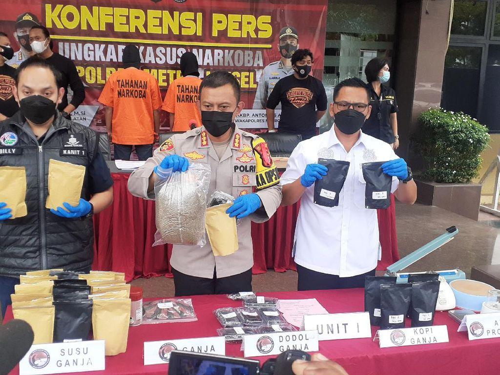 Polres Jaksel Tangkap Penjual Susu Hingga Dodol Ganja