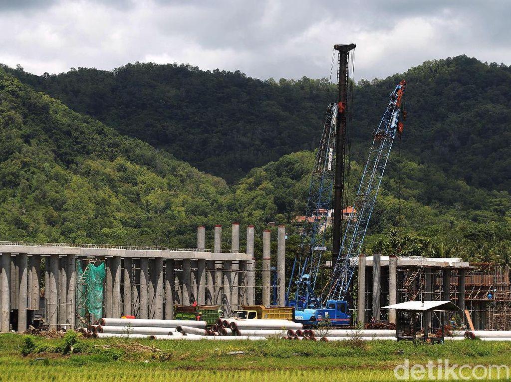 Begini Progres Pembangunan Jalur Kereta Bandara YIA
