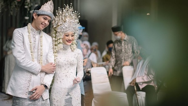 Pernikahan adat Palembang selebriti.