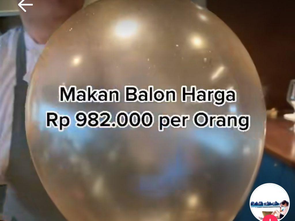 Jajan dan Makan Balon Seharga Rp 1 Juta, Netizen : Mending Makan Pake Jengkol