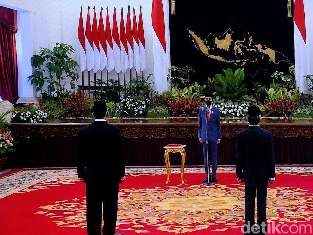 Jokowi Juga Lantik Irjen Petrus dan Hartono Jadi Kepala BNN-Kepala BRG