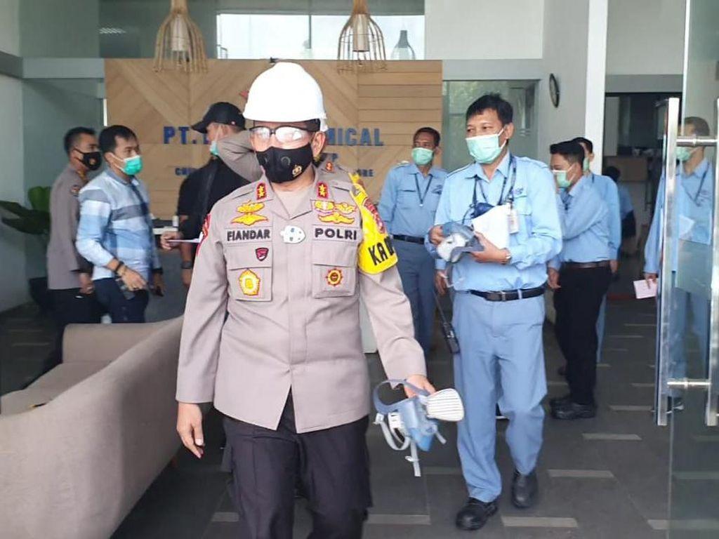 Cek Lokasi Ledakan di Pabrik Kimia Cilegon, Kapolda Banten: Bukan Bom